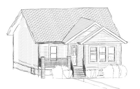 draft sketch of house